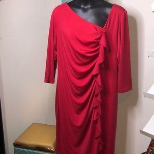 Eloquii Red Ruffle Dress 22W